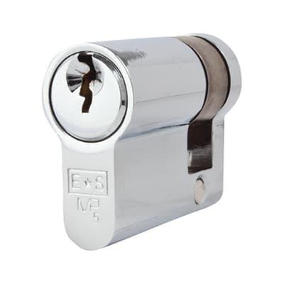 Eurospec Euro Single Cylinder - 5 Pin - 30 + 10mm - Polished Chrome - Master Keyed
