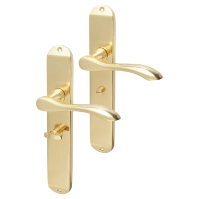 Hampstead Altea Bathroom Door Handle - Polished Brass