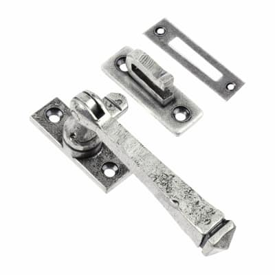 Olde Forge Avon Locking Fastener - Reversible - Pewter