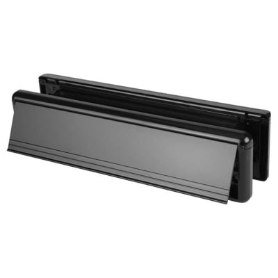 Yale Seal Letter Plate 304 x 70mm - door thickness 20-40mm - Black