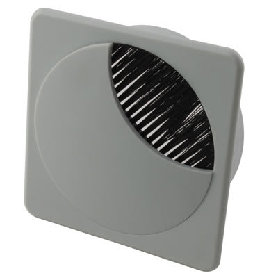 Altro Square Cable Tidy - 80mm - Grey - Pack 10