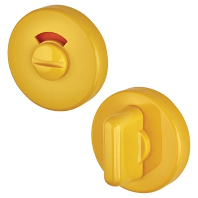 Hoppe Paris Coloured Nylon Bathroom Turn & Release 52 x 9mm - Golden Yellow
