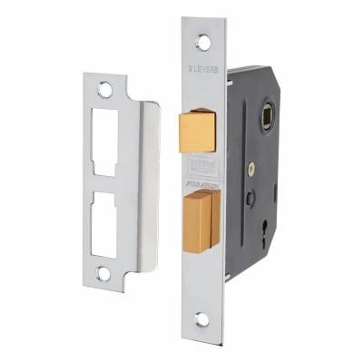 UNION 2295 2 Lever Sashlock - Key Number M24H - 76mm Case - 57mm Backset - Chrome