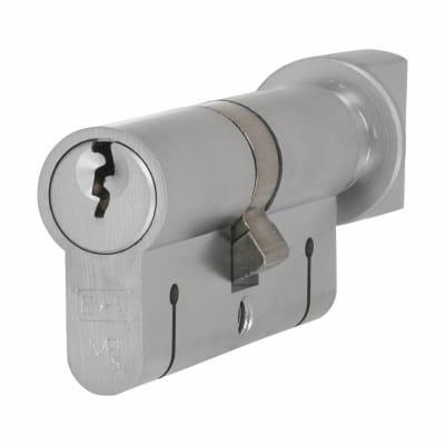 Eurospec 15 Pin 70mm Euro Thumbturn Cylinder - 35mm [Turn] + 35mm - Satin Chrome - Keyed to Differ