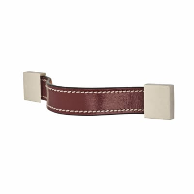 Leather Cabinet Handle - Strap - Plain - Burgundy