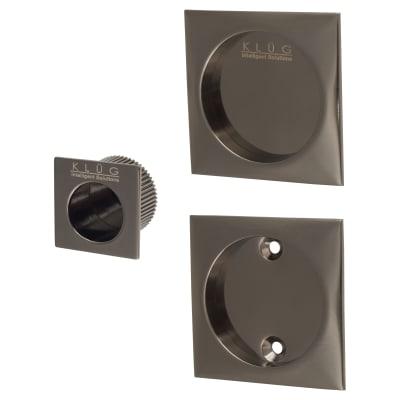 Klug Square 3 Piece Flush Handle Set - Black Nickel