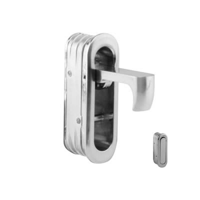 Altro Door Edge Finger Pull - 58 x 18 x 18mm - Satin Nickel