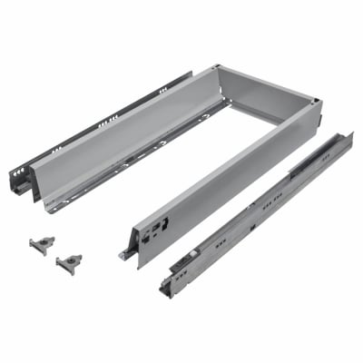 Blum TANDEMBOX ANTARO Drawer Pack - BLUMOTION Soft Close - (H) 84mm x (D) 650mm x (W) 300mm - Grey