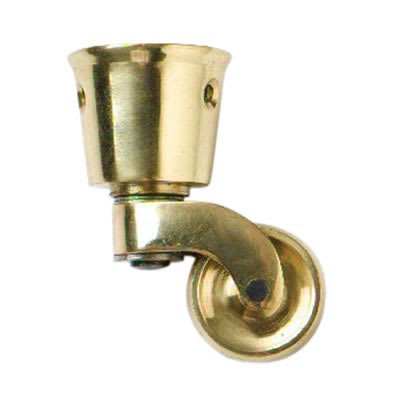 Traditional Wheel Castor Cup - Brass - Pack 2