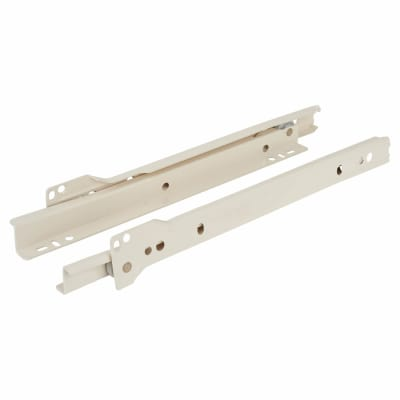 Blum Standard Euro Drawer Runner - Single Extension - 25kg - 550mm - Cream