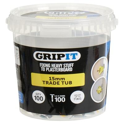 Grip It® Plasterboard Fixing - Yellow - 15mm - 100 Tub