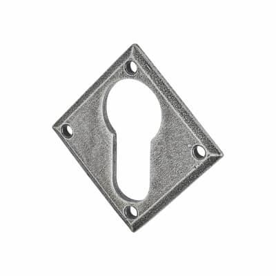 Olde Forge Diamond Escutcheon - Euro - Pewter