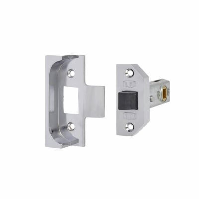 UNION® 2650 Rebated Tubular Latch - 80mm Case - 57mm Backset - Bright Silver