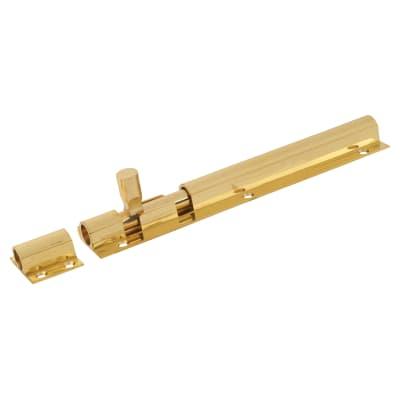 Straight Barrel Bolt - 200 x 40mm - Polished Brass