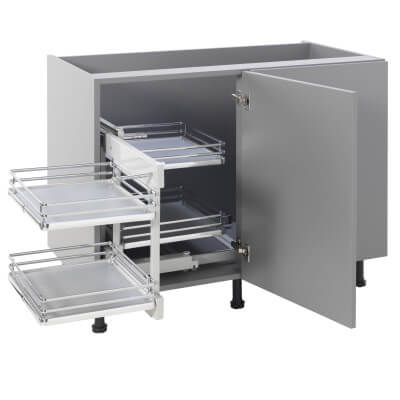 Kitchen Cabinet Storage Blind Corner Optimiser Plus - Fits to Cabinet Width 900mm