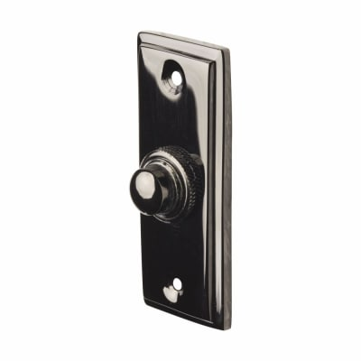 Door Bell - 83 x 33mm - Black Nickel