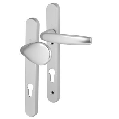 Hoppe Atlanta Multipoint Handle - uPVC/Timber - 92mm C/C - 70mm door thickness - Lever/Pad - Silver