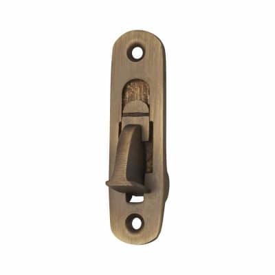 Weekes Sash Stop Window Restrictor - 72mm - Antique Brass