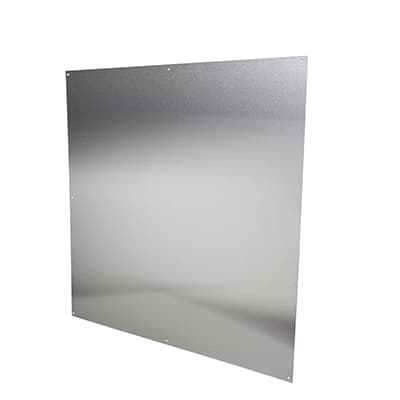 Half door panel kick plate - 760 x 760mm - Satin Stainless Steel