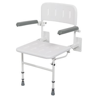 Nymas Standard Wall Mounted Shower Seat - No Padding