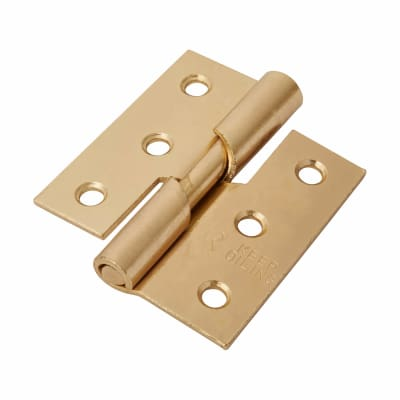 Rising Butt Hinge - 75 x 70 x 2.5mm - Right Hand - Brass Plated - Pair