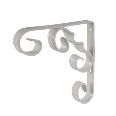 Touchpoint Ornamental Scroll Shelf Bracket - 115 x 100mm - White