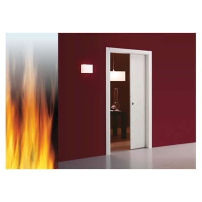 Eclisse Single Fire Pocket Door Kit - 100mm Finished Wall - 838 x 1981mm Door Size