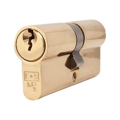 Eurospec Euro Double Cylinder - 5 Pin - 35 + 35mm - Polished Brass - Master Keyed