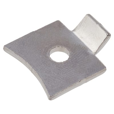 Altro Standard Flat Bookcase Clip - Polished Nickel Plated - Pack 10
