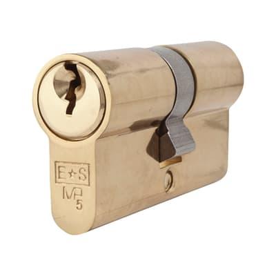 Eurospec Euro Double Cylinder - 5 Pin - 30 + 30mm - Polished Brass - Keyed Alike