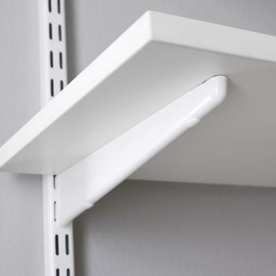 elfa Twin Slot Shelf Bracket for Solid Shelving - 370mm - White