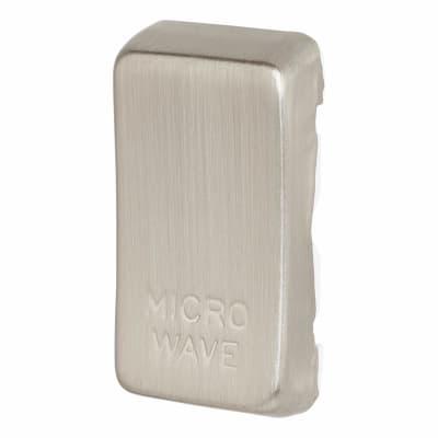 BG Printed Grid Switch Rocker - Microwave - Brushed Steel