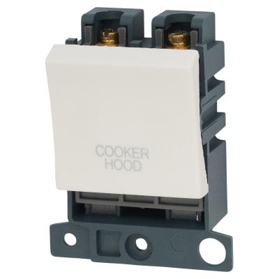 Click Scolmore MiniGrid 20A DP Ingot Switch 2 Module - Cooker Hood - White