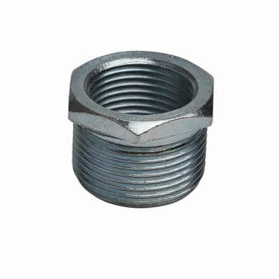Steel Conduit Reducer 25mm to 20mm - Zinc Plated - Pack 10
