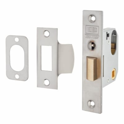 UNION 2332 Mortice Nightlatch - 65mm Case - 47mm Backset - Satin Stainless Steel