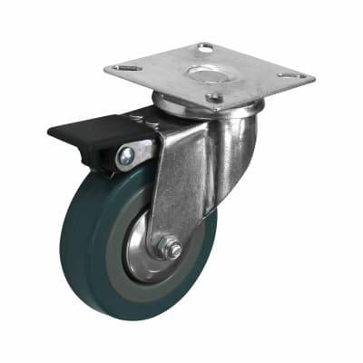 Coldene General Purpose Castor - Swivel Braked - 55kg Maximum Weight - Grey