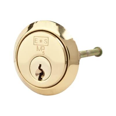 Eurospec Rim Cylinder - 5 Pin - 32mm - Polished Brass - Master Keyed