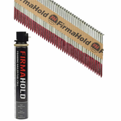 TIMco 34° FirmaHold Clipped Head Nail and Gas - First Fix - 3.1 x 63mm - FirmaGalv - 1 Fuel Cell
