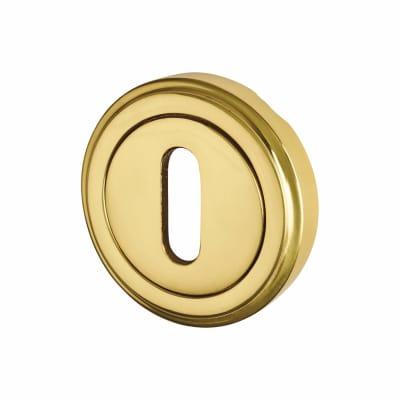 M Marcus Escutcheon - Keyhole - Polished Brass