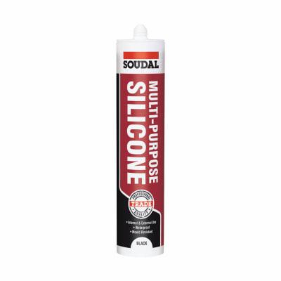 Soudal Multi-Purpose Silicone - 270ml - Black
