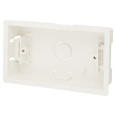 Scolmore Click 2 Gang 35mm Deep Dry Lining Box - White
