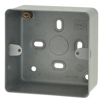 MK 1 Gang Surface Back Box - 41mm - Steel