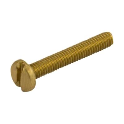 Unicrimp Machine Screw - Pan Head - M4 x 12mm - Brass - Pack 100