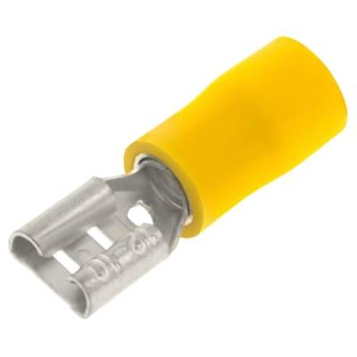 Unicrimp Female Push-on Terminal - 6.3mm - Yellow - Pack 100