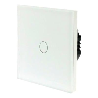 Homeflow 1 Gang Wi-Fi Smart Glass Switch - White