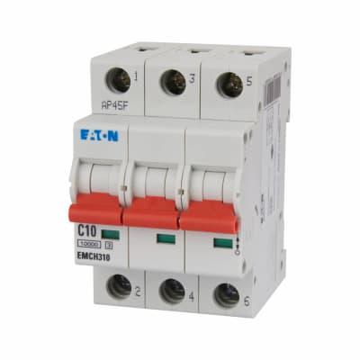 Eaton MEM 10A Triple Pole 3 Phase MCB - Type C