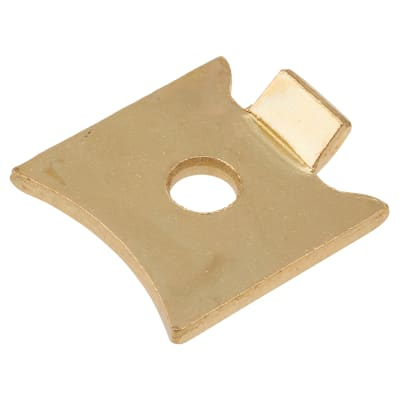 Altro Standard Raised Bookcase Clip - Electro Brass Plated - Pack 10
