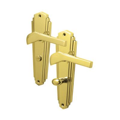M Marcus Waldorf Bathroom Door Handle - Polished Brass