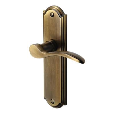 M Marcus Howard Latch Door Handle - Antique Brass