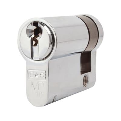 Eurospec Euro Single Cylinder - 10 Pin - 32 + 10mm - Polished Chrome - Master Keyed